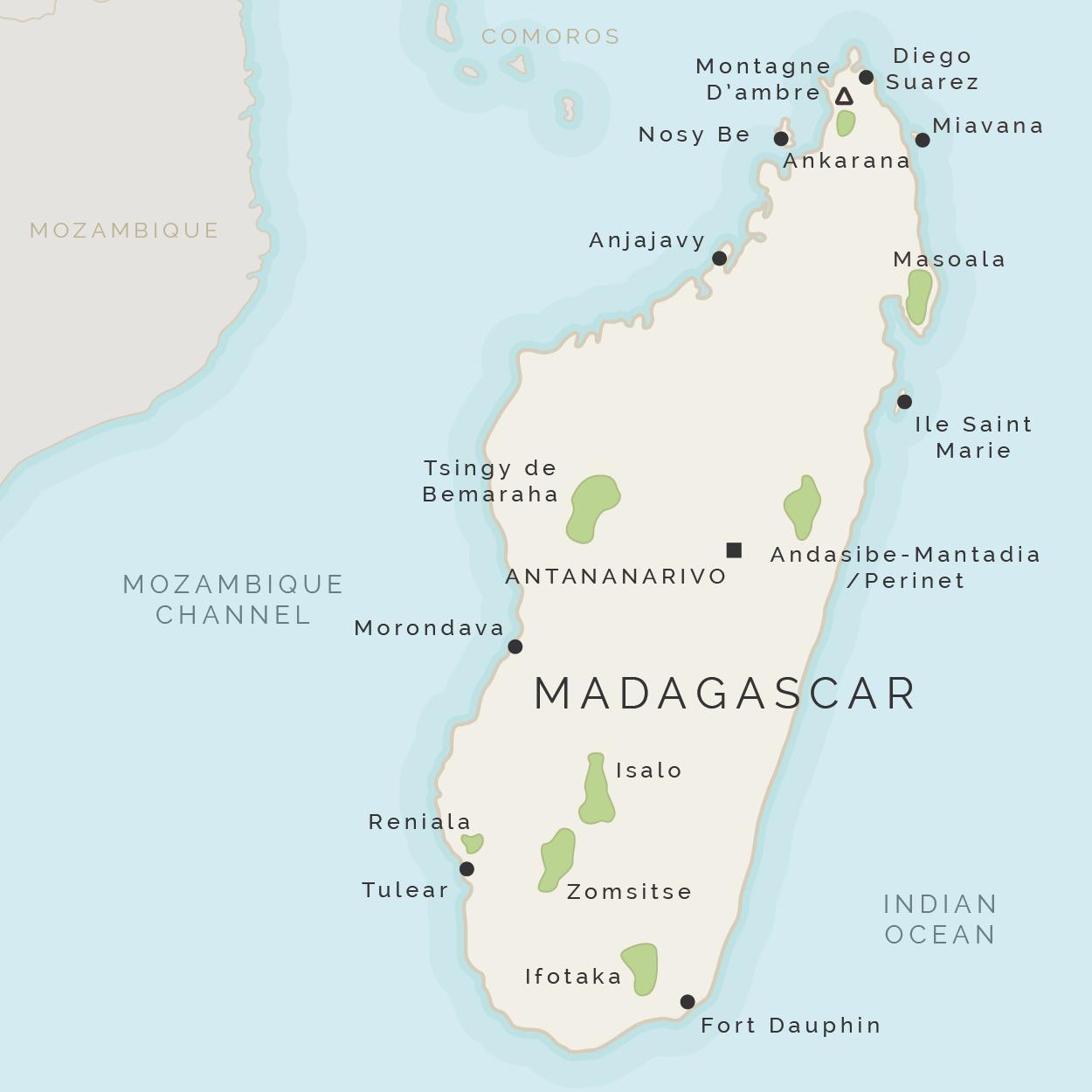 Madagaskarin Saaren Kartta Kartta Madagaskar Ja Ymparoiville