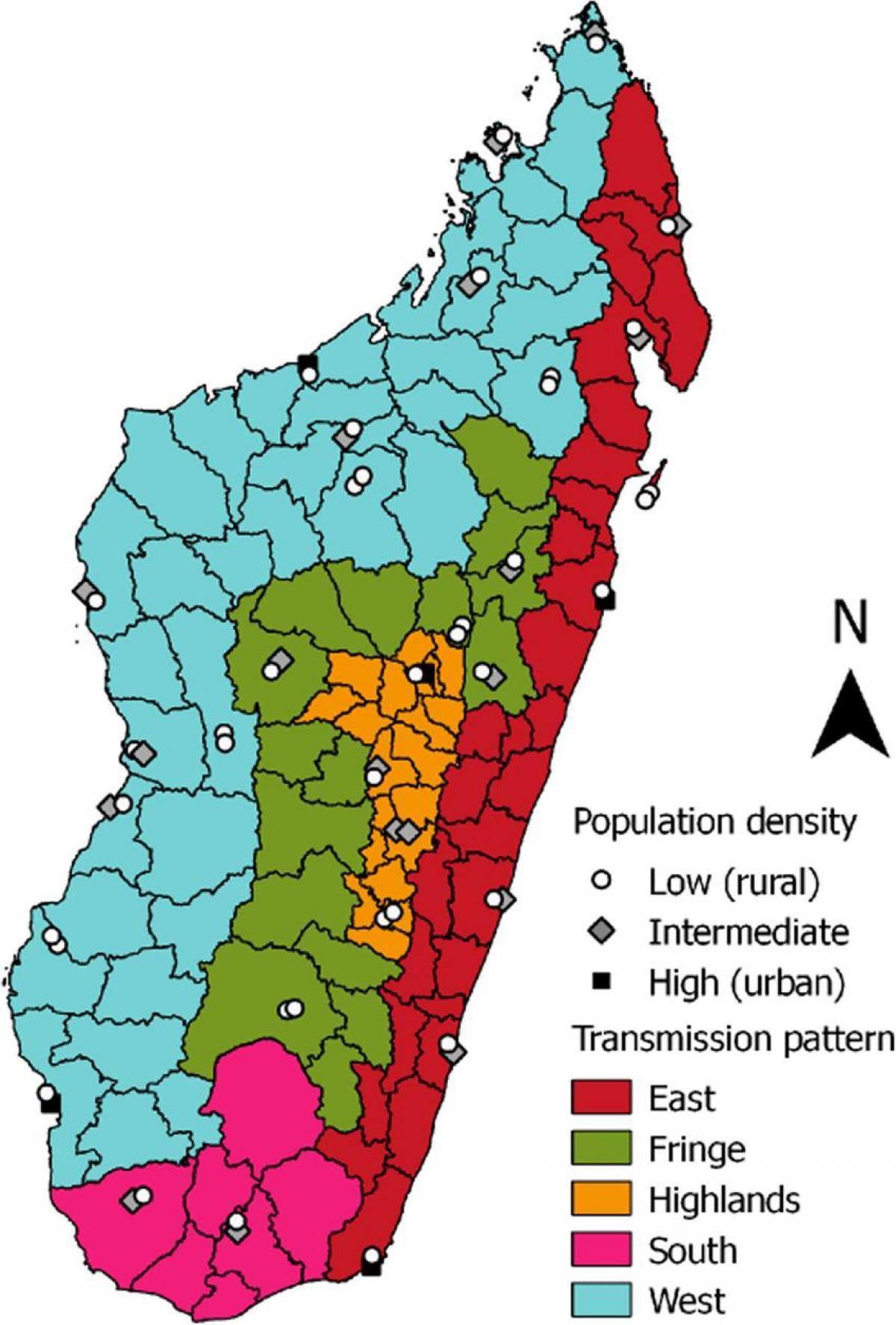 Madagaskar Malaria Kartta Malaria Madagaskarin Kartta Ita